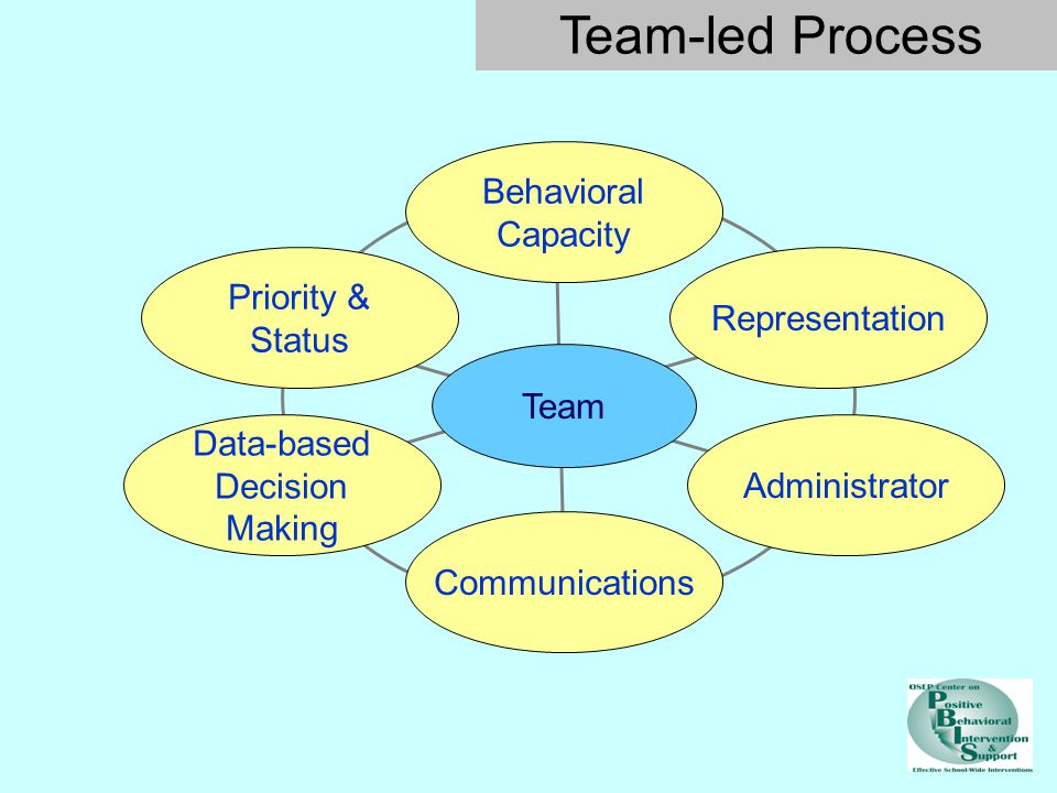 Team-led Process Behavioral Capacity Priority & Status Representation