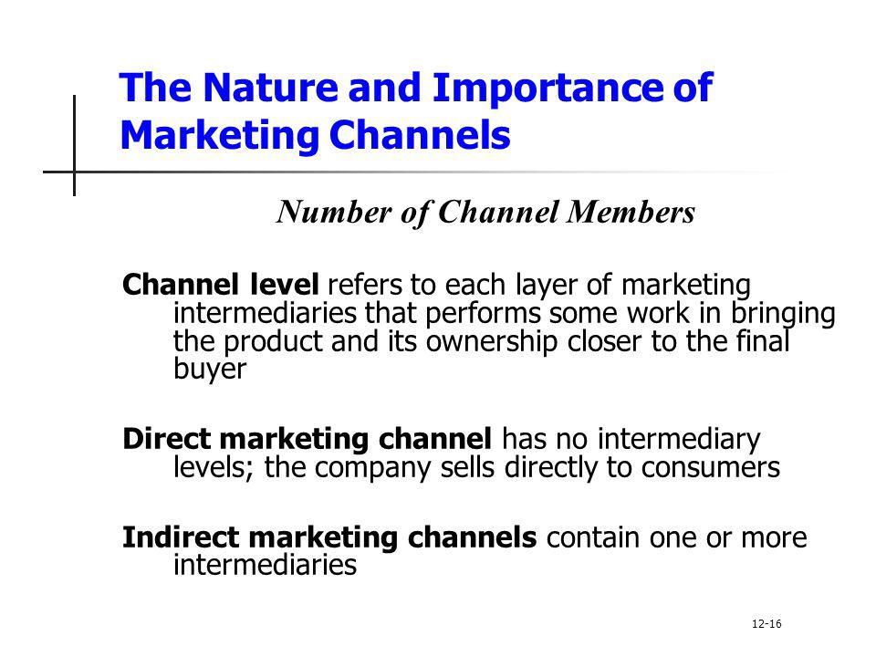 the role and importance of a marketing channel in a company