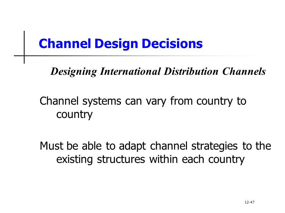 The Types of International Distribution Channels