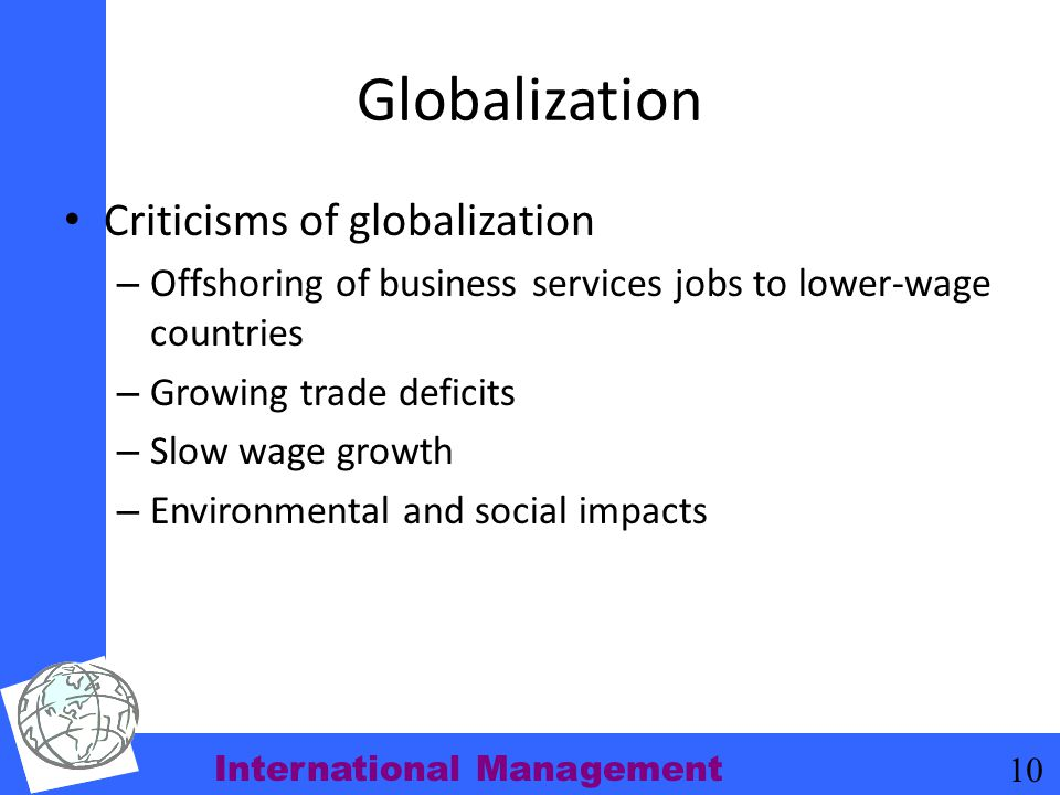 Globalization Criticisms of globalization