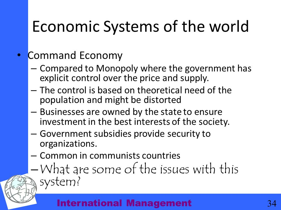 Economic Systems of the world