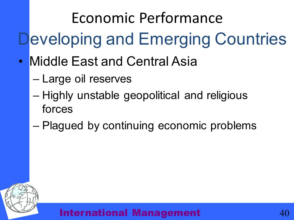 Developing and Emerging Countries