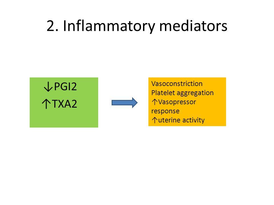 2. Inflammatory mediators