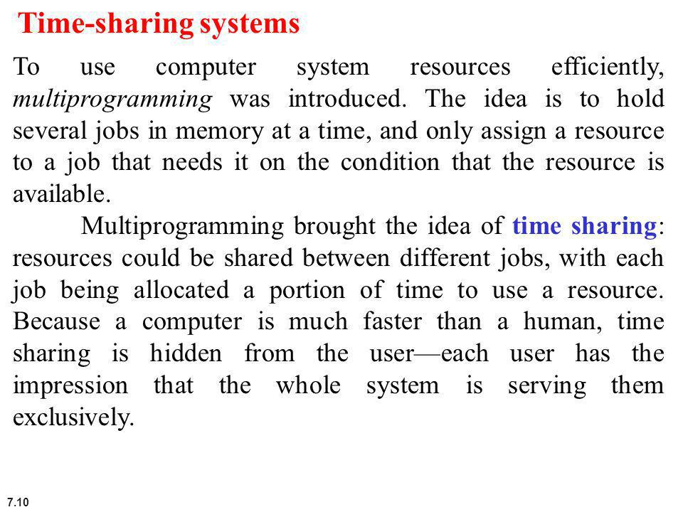 Time-sharing systems