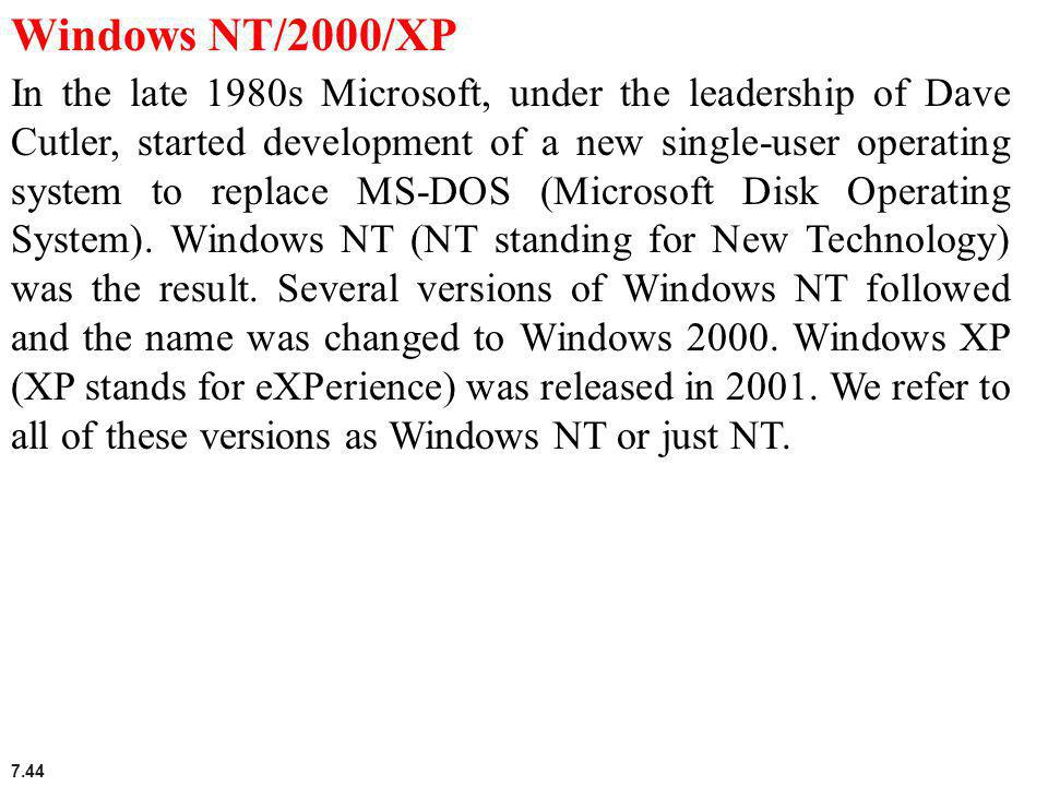 Windows NT/2000/XP