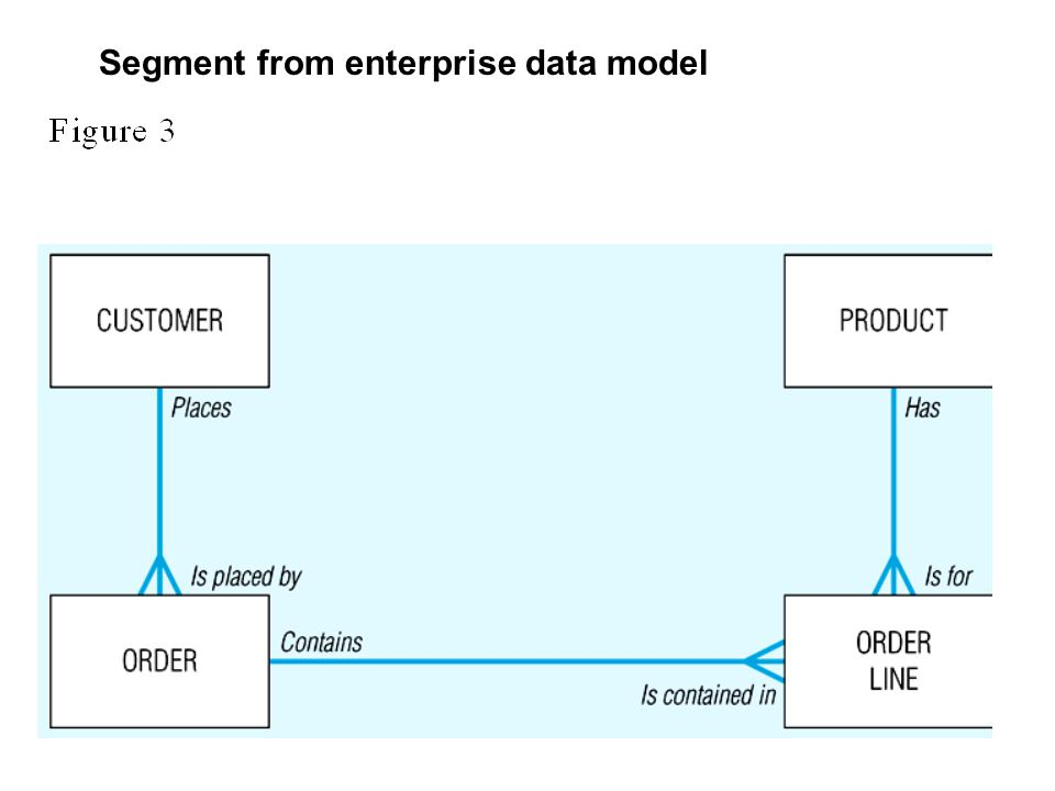 Segment from enterprise data model