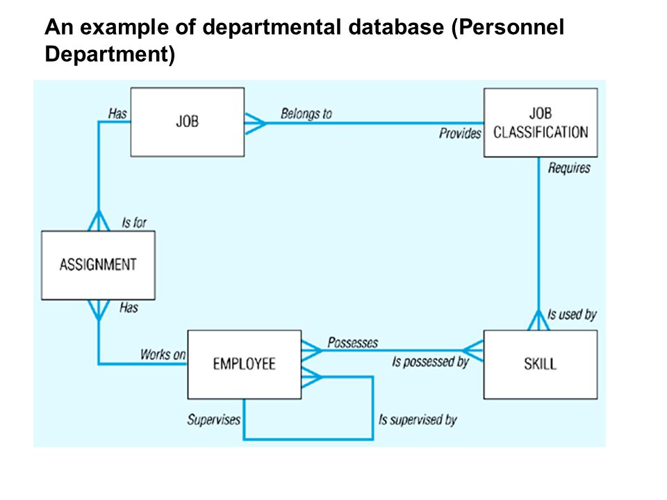 An example of departmental database (Personnel Department)