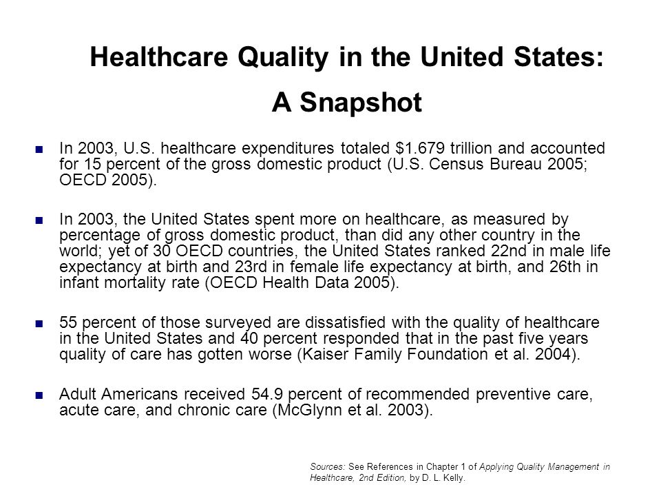 Healthcare Quality in the United States: A Snapshot