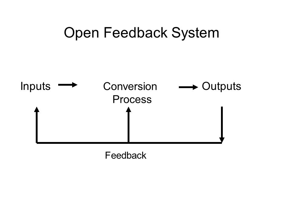 Open Feedback System Inputs Conversion Process Outputs Feedback 13