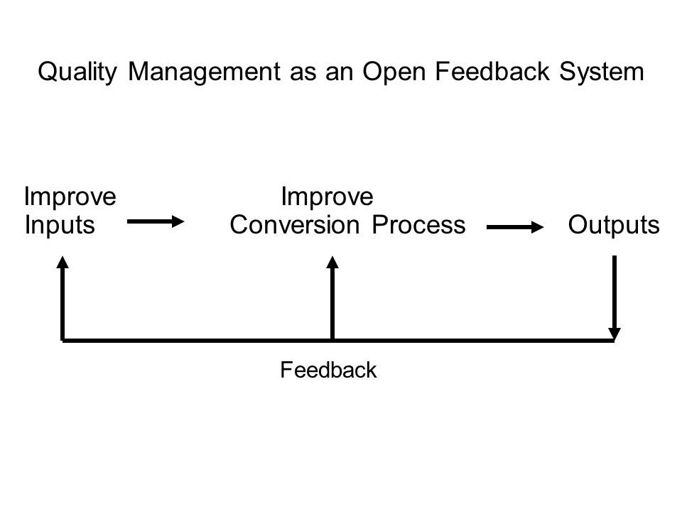 Quality Management as an Open Feedback System