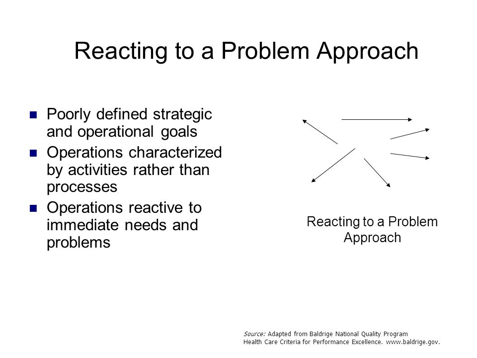 Reacting to a Problem Approach