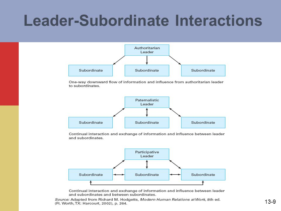 Leader-Subordinate Interactions