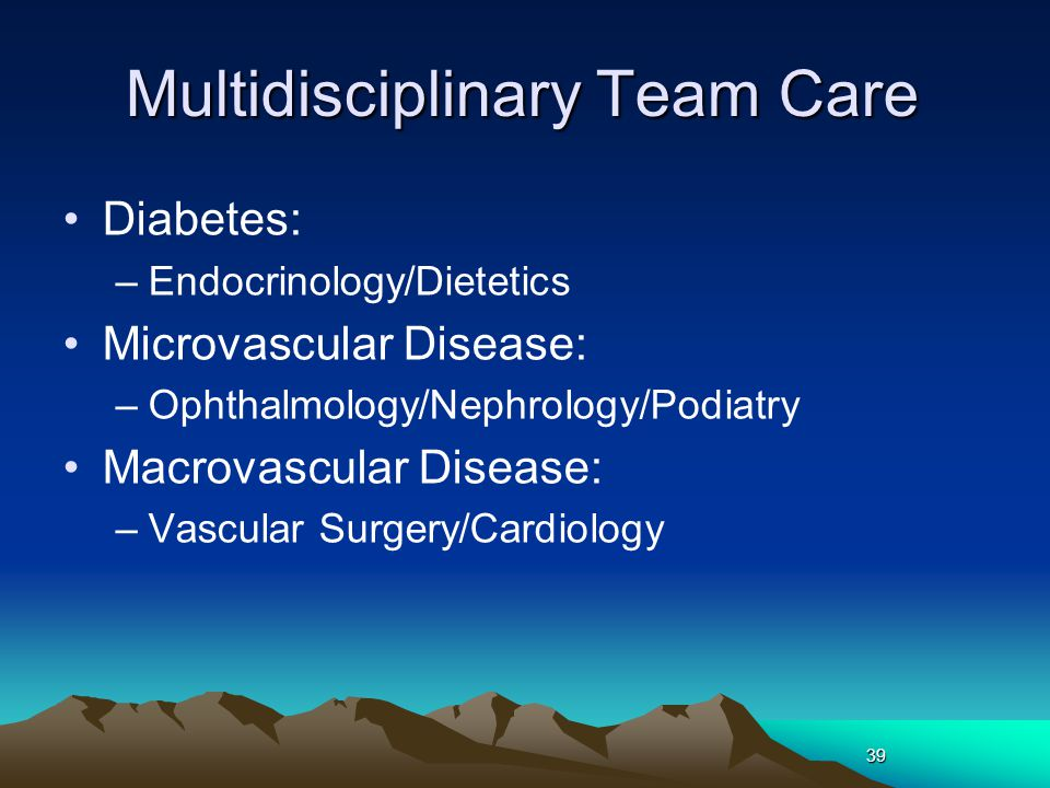 Multidisciplinary Team Care