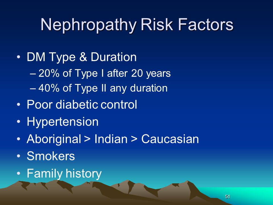 Nephropathy Risk Factors