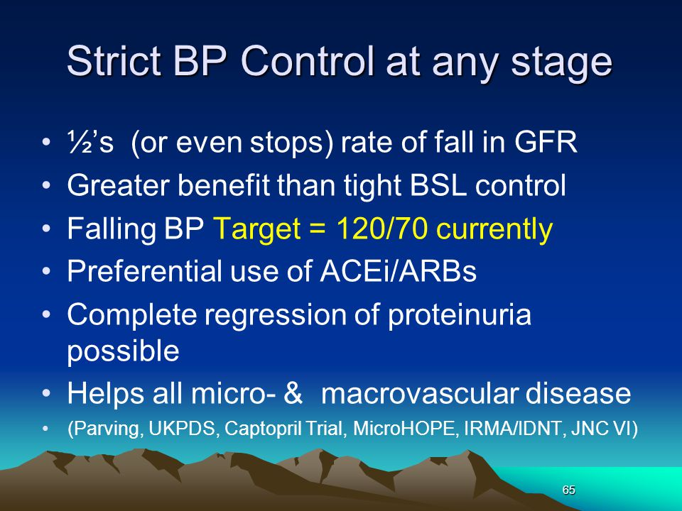 Strict BP Control at any stage