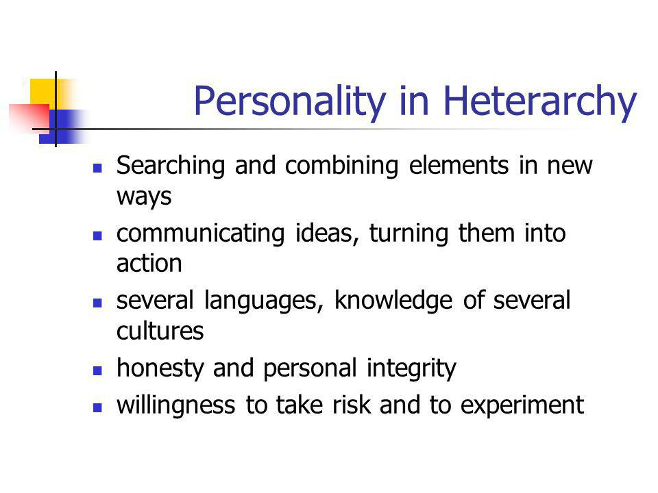 Personality in Heterarchy