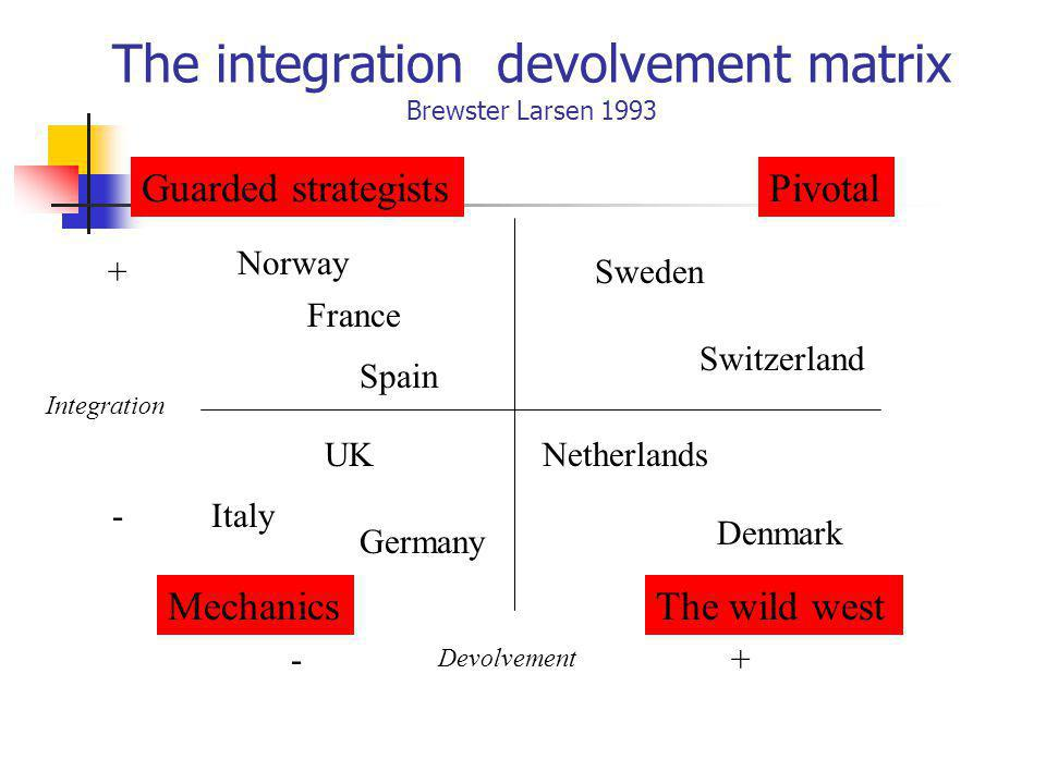 The integration devolvement matrix Brewster Larsen 1993