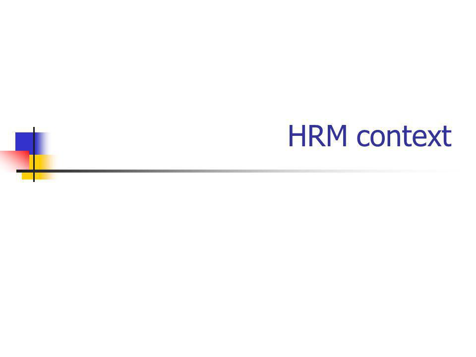 HRM context