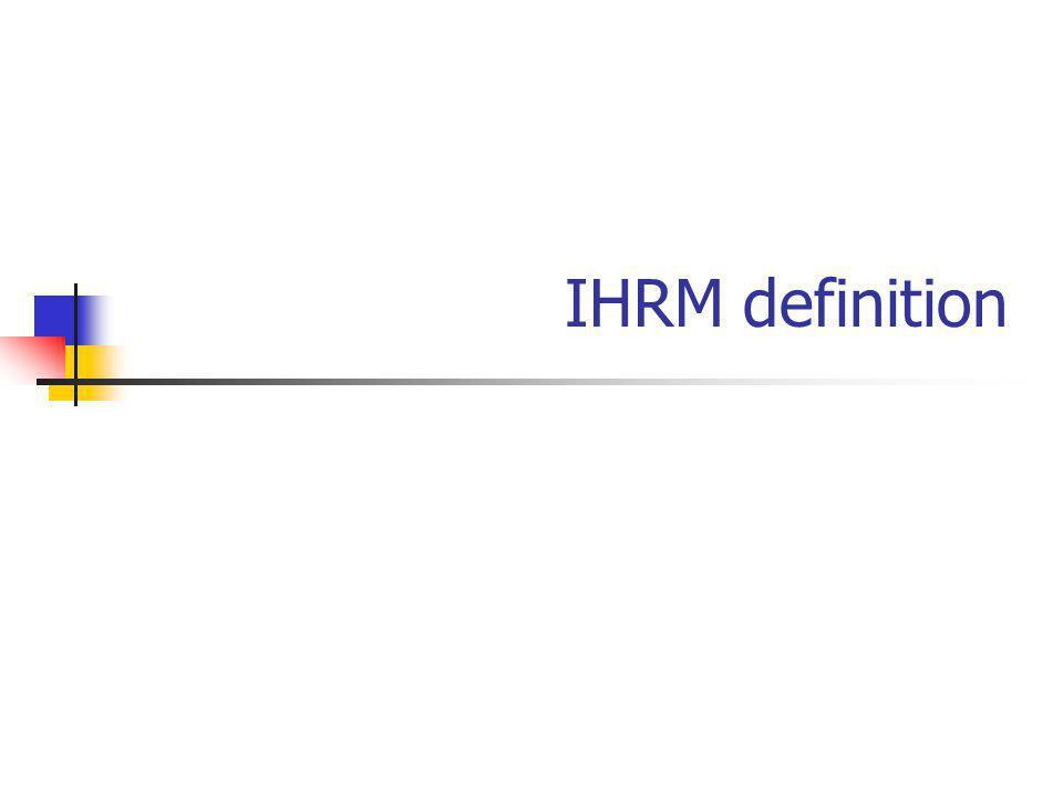 IHRM definition