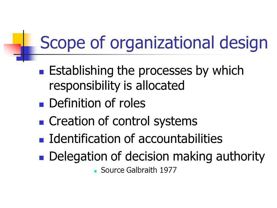 Scope of organizational design