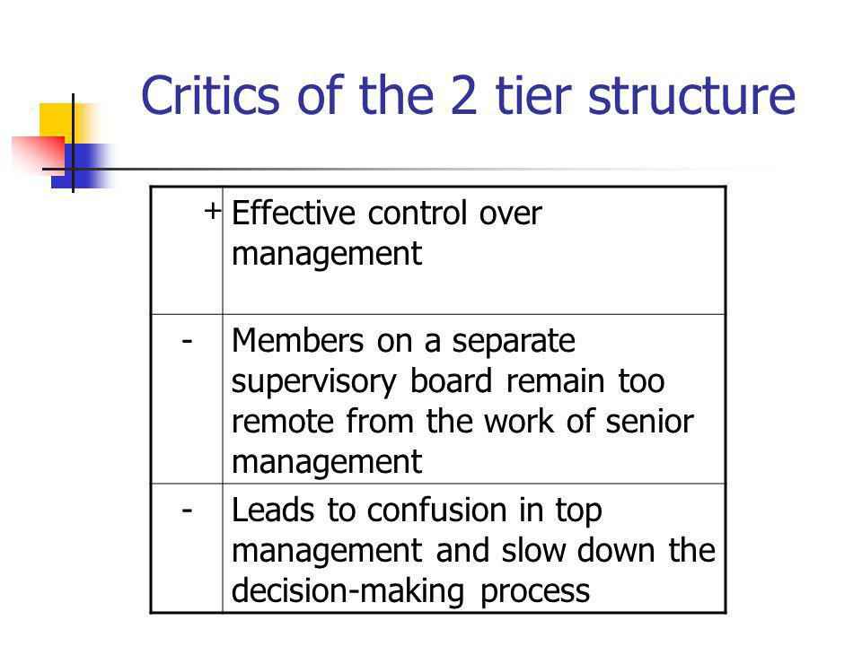 Critics of the 2 tier structure