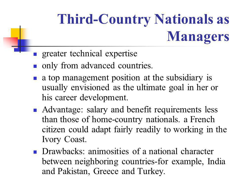 Third-Country Nationals as Managers