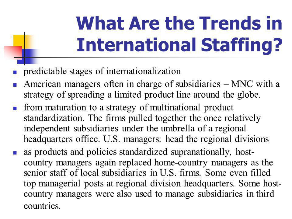 What Are the Trends in International Staffing