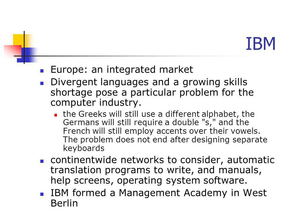 IBM Europe: an integrated market