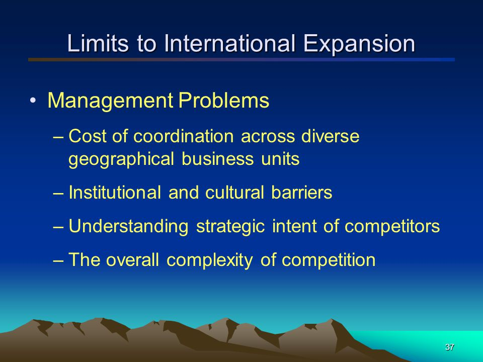 Limits to International Expansion