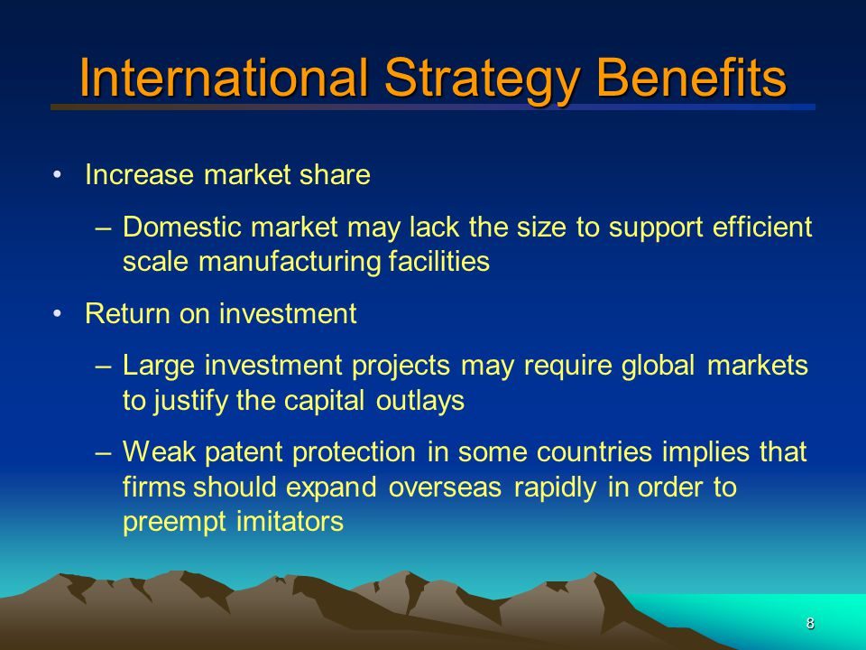 International Strategy Benefits