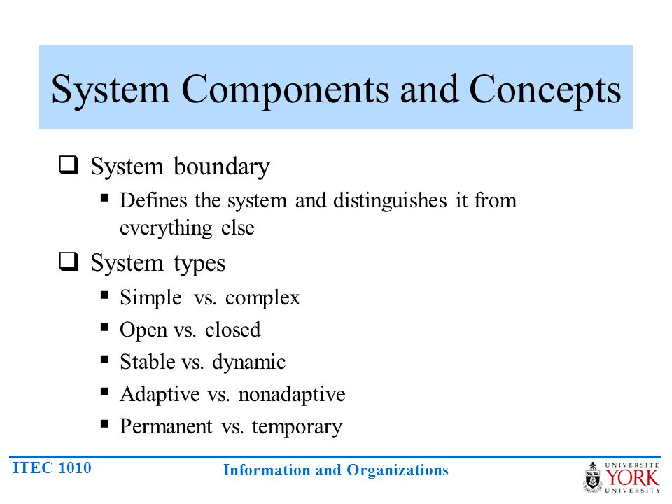 System Components and Concepts
