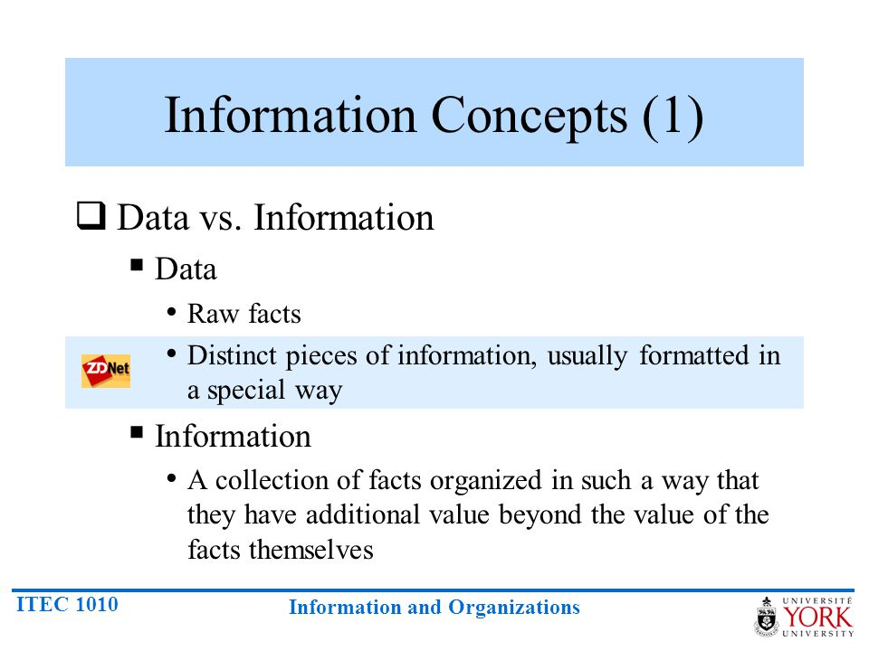Information Concepts (1)