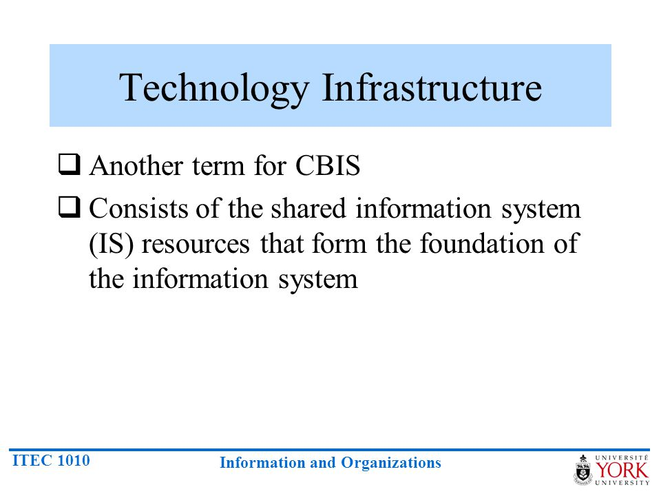 Technology Infrastructure