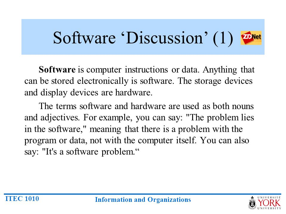 Software 'Discussion' (1)
