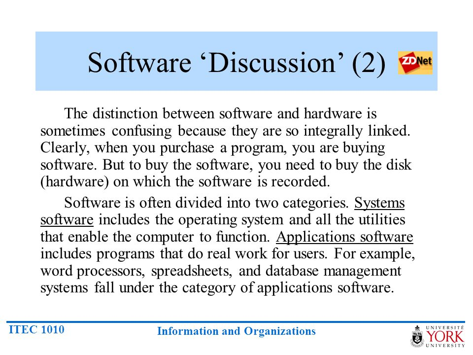 Software 'Discussion' (2)