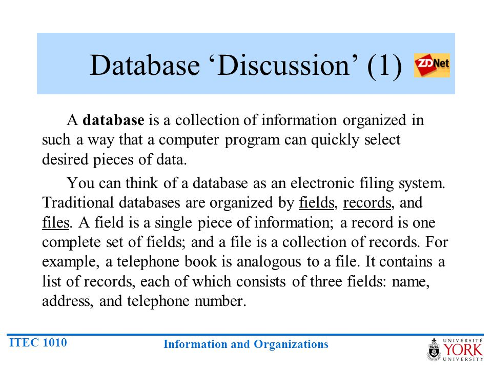 Database 'Discussion' (1)