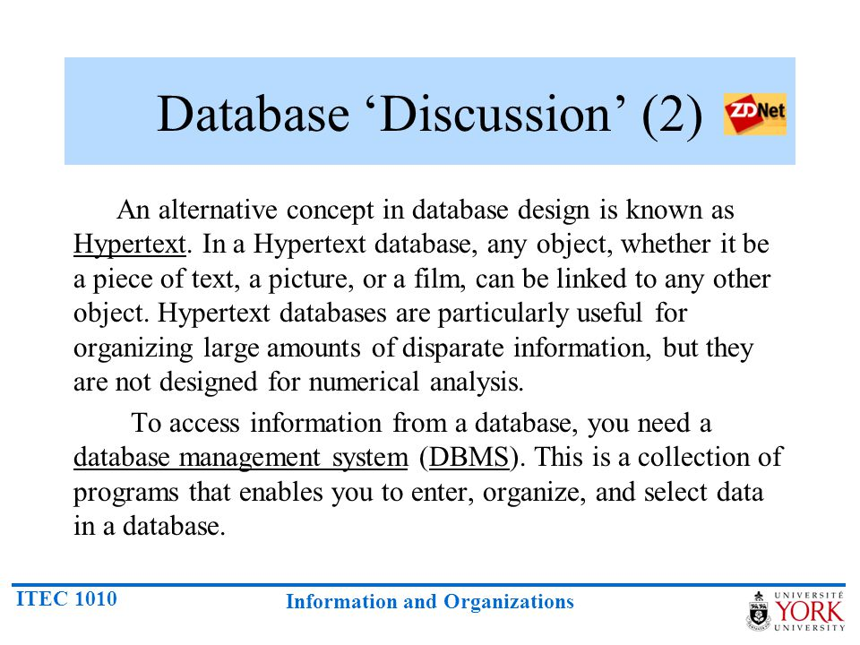 Database 'Discussion' (2)