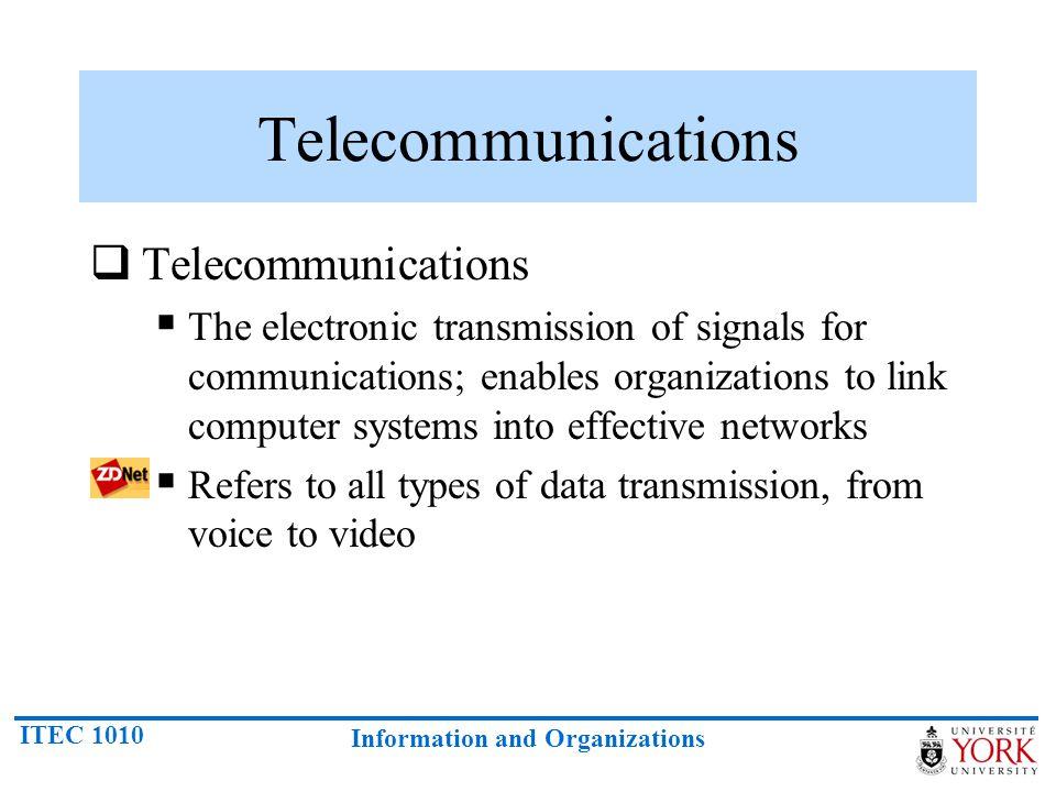 Telecommunications Telecommunications