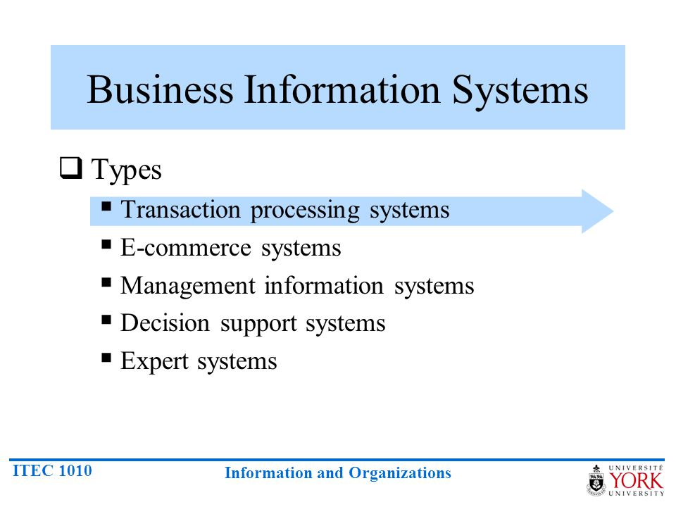 Business Information Systems
