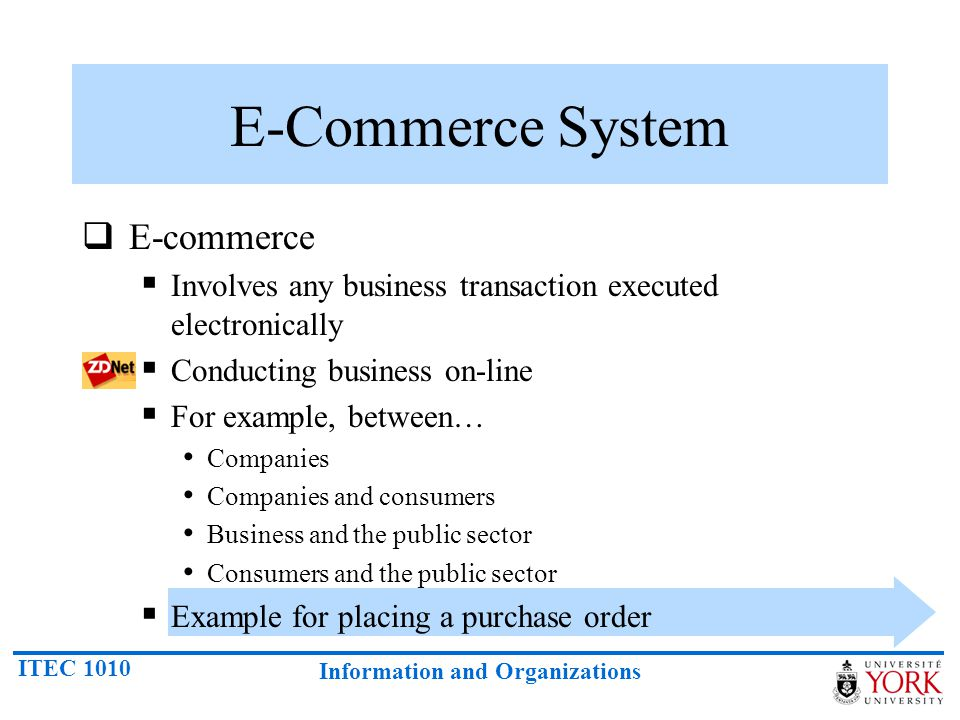 E-Commerce System E-commerce