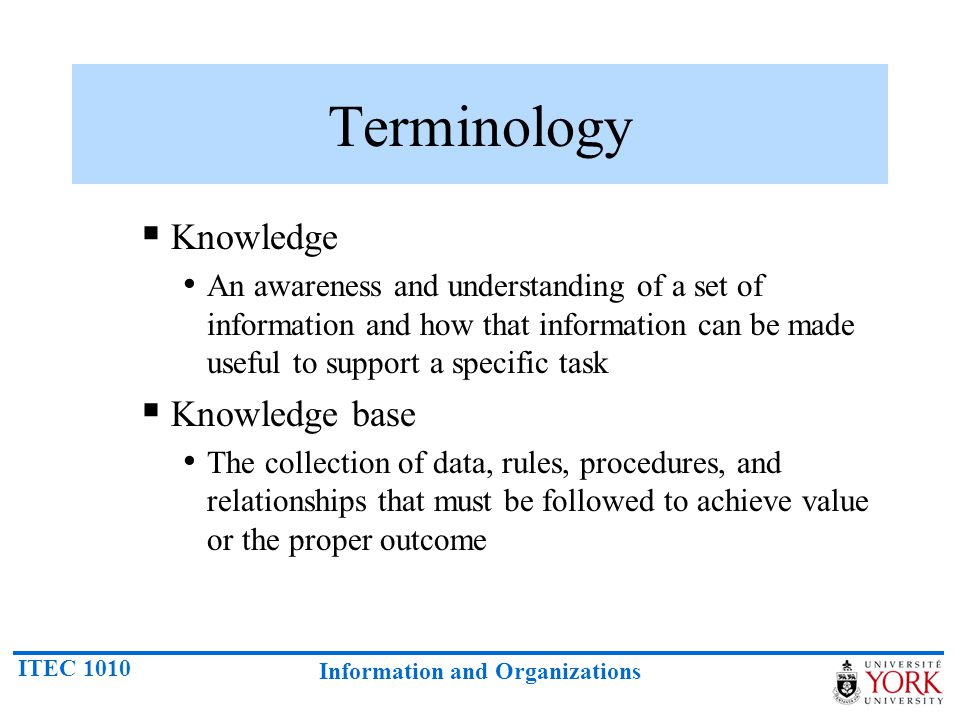 Terminology Knowledge Knowledge base