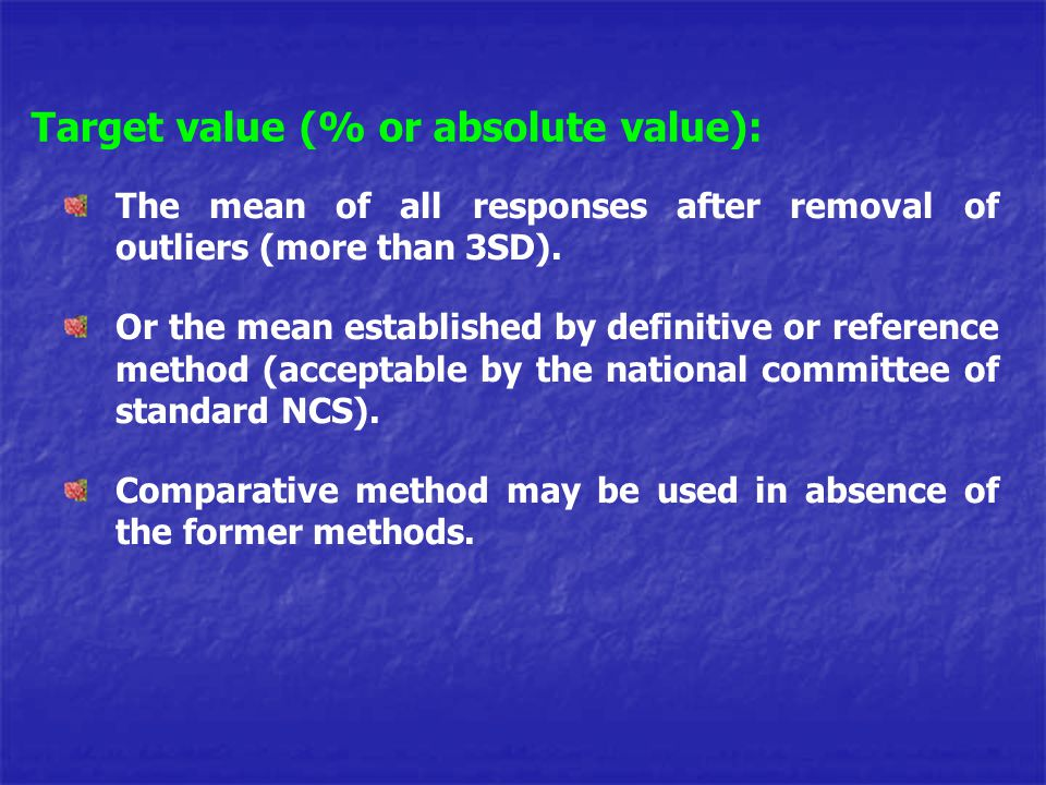 Target value (% or absolute value):