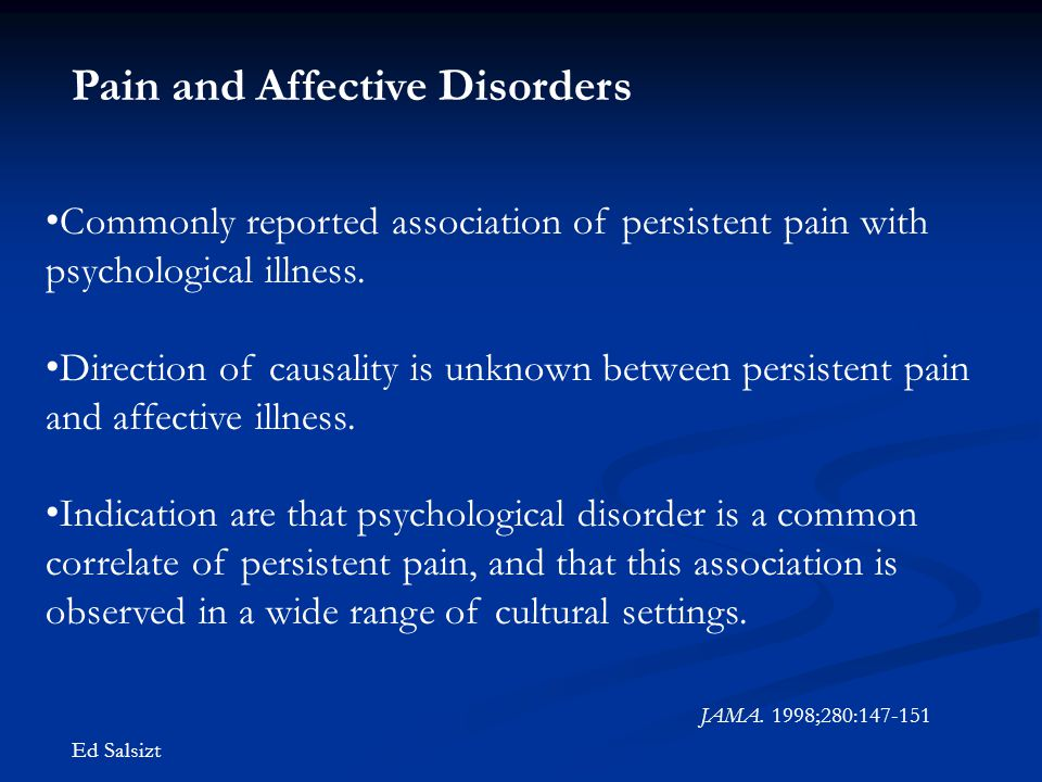Pain and Affective Disorders
