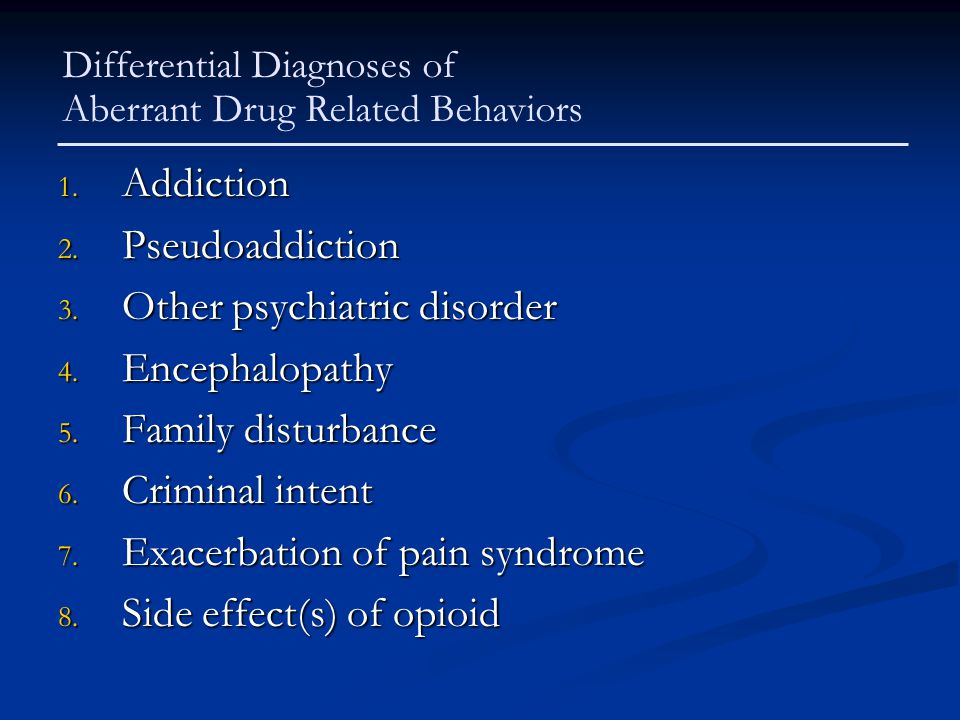 Other psychiatric disorder Encephalopathy Family disturbance