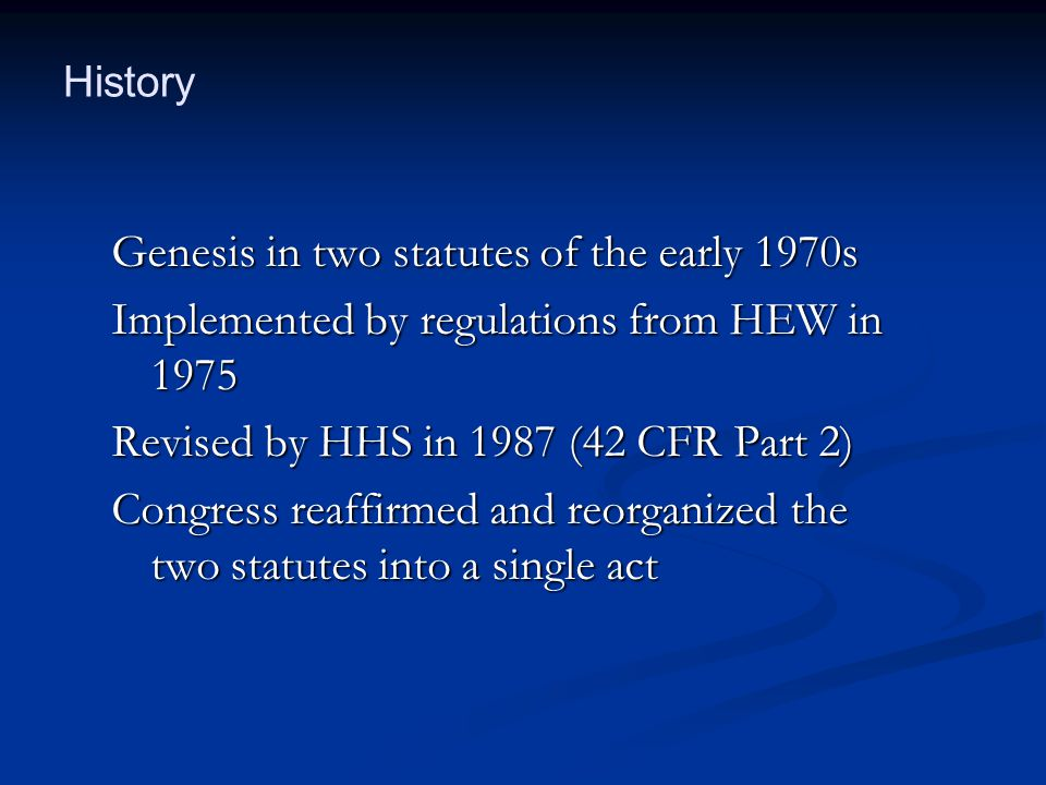 Genesis in two statutes of the early 1970s
