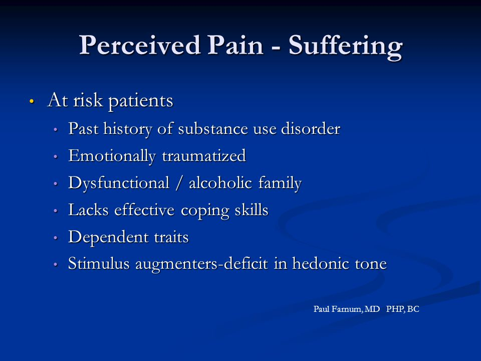 Perceived Pain - Suffering