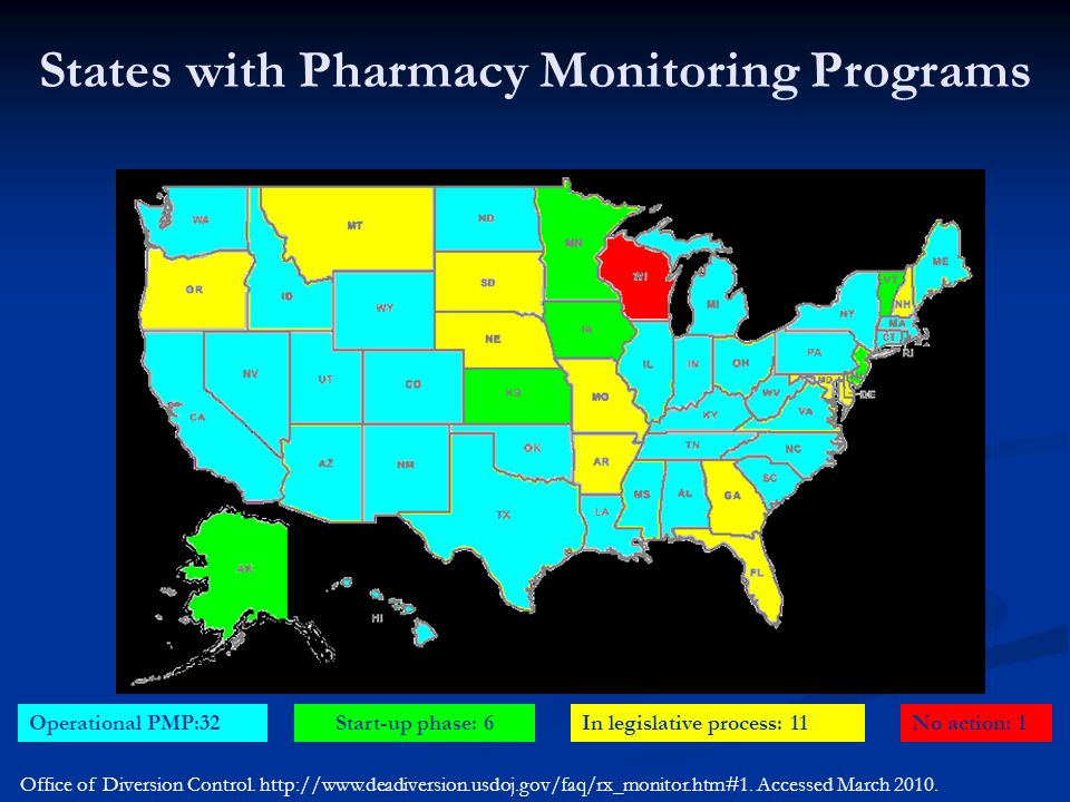 States with Pharmacy Monitoring Programs
