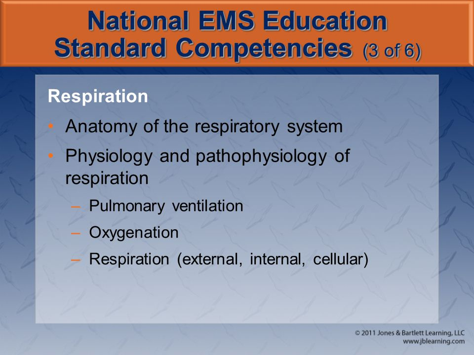 National EMS Education Standard Competencies (3 of 6)