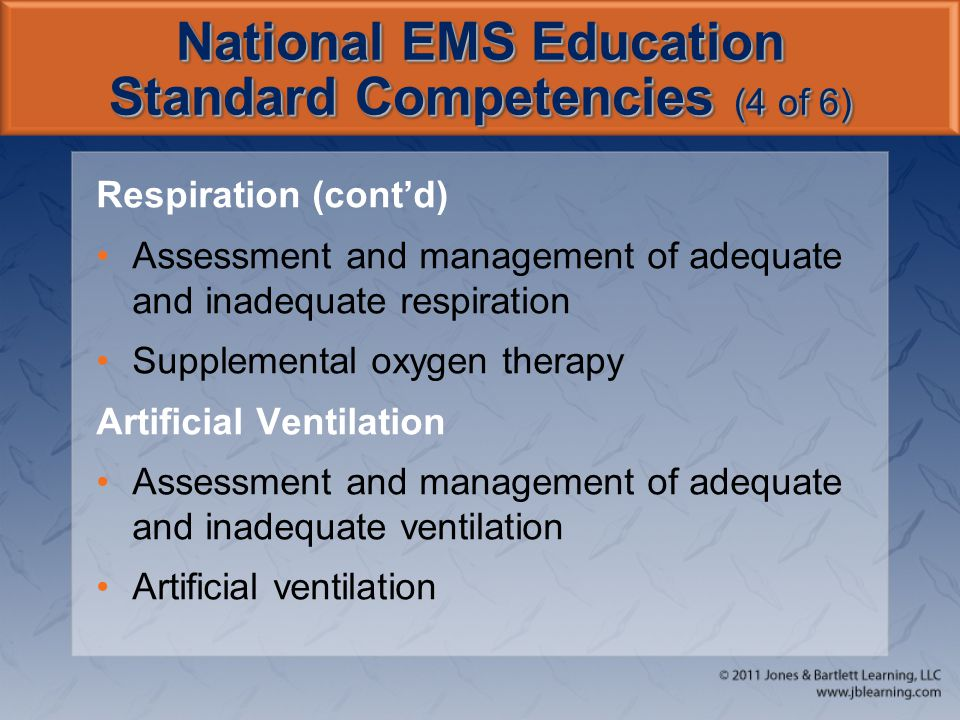 National EMS Education Standard Competencies (4 of 6)