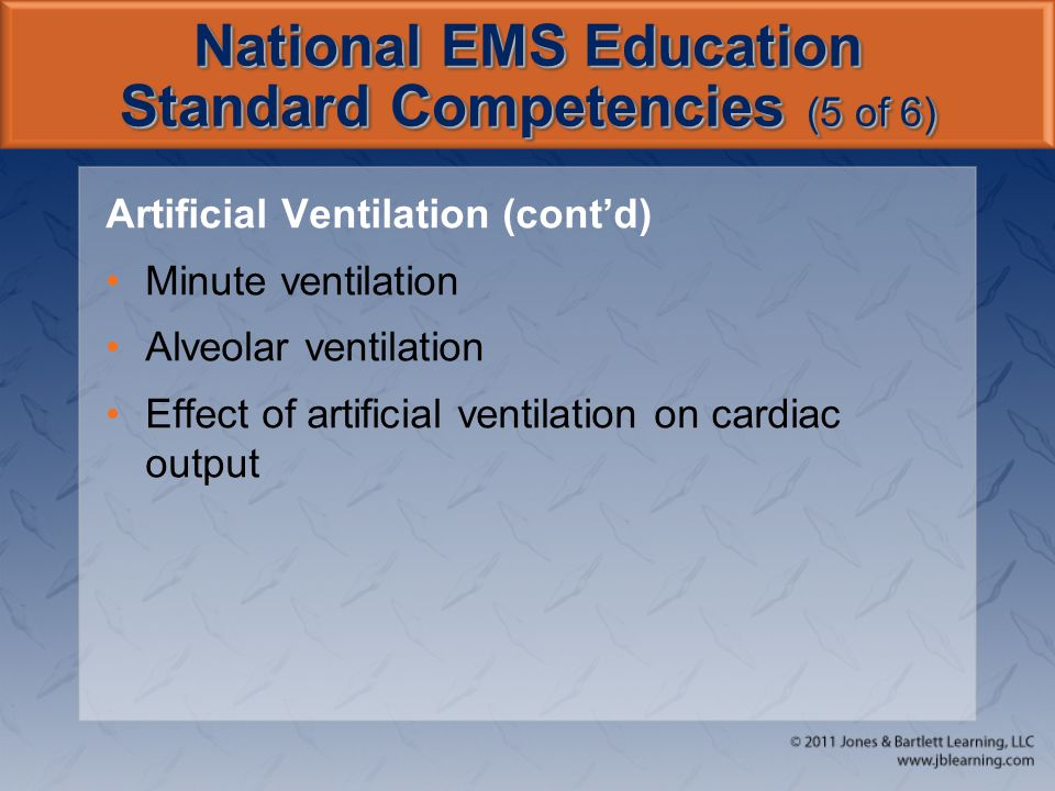 National EMS Education Standard Competencies (5 of 6)